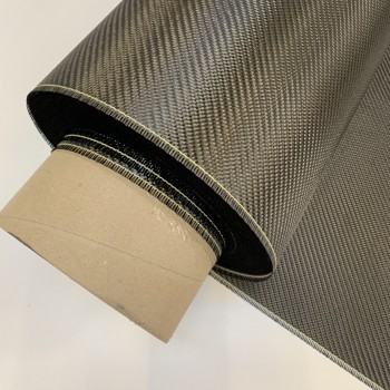 DIY HQDC 200gsm 3k Carbon Fibre Twill Weave Veil Backed
